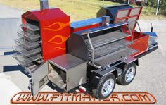 I want one of these BBQ trailers from pitmaker #bbq #smoker #grill