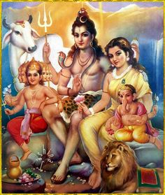 Hindu Cosmos — Gajanan Ganesh Artist: G. Shiva Parvati Images, Lakshmi Images, Shiva Shakti, Lord Ganesha Paintings, Lord Shiva Painting, Shiva Art, Hindu Art, Cosmos, Happy Ganesh Chaturthi Images