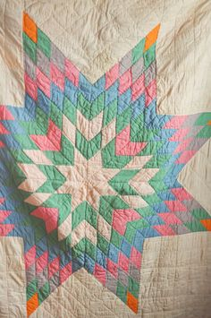 Vintage Handmade Patchwork Texas Star Quilt Cutter | drowsy Swords
