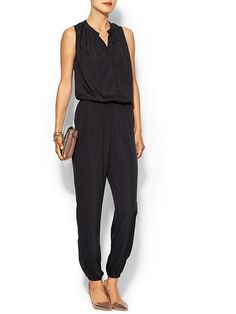Collective Concepts Long Silky Romper - Black by: Collective Concepts @Piperlime
