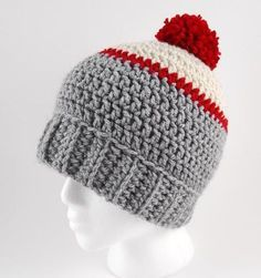 There's something so right about the classic pompom crochet beanie, like the Ice Fishing Beanie. Worked in a simple stitch and featuring a classic fold-up ribbing and a little pompom at the very top of the hat, this crochet hat pattern is your classic, everyday winter hat. This is an easy design to work up and since it features bulky-weight yarn, is super warm. There are minimal color changes in this design, but you could also work this in a solid hue or a variegated color to minimize those…