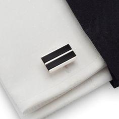 Herrenschmuck - Sterling Silber Manschettenknöpfe | Schwarzer Onyx - ein Designerstück von ZaNa-Design bei DaWanda
