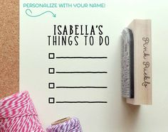 Personalized Planner Stamp, Personalized To Do List Rubber Stamp – PinkPueblo