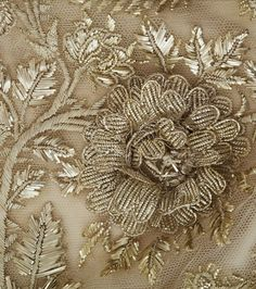 Embroidery detail from the court dress belonging to the Chateau de Malmaison collection.
