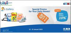 Buy 3 Get 4 di Blibli.com, 12-31 Januari 2015