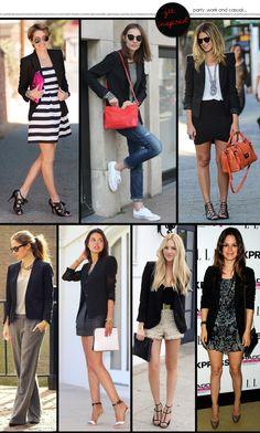 outfits - fashion - looks - casual chic - black blazer - blazer preto