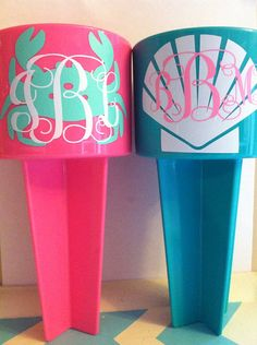 Monogram beach spiker on Etsy, $12.00