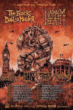 Napalm Death - The Abysmal Predator US Tour Nov / 2016
