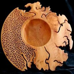 *Wood Sculpture by Mick Hanbury Wood Turning Projects, Wood Projects, Woodworking Projects, Wood Images, Wood Carving Art, Into The Woods, Wood Creations, Wood Bowls, Wooden Art