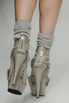 major heels with ankle socks Wish it was without ankle socks but this still makes a statement:) Love<3
