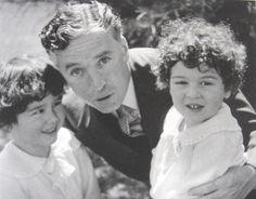 Charlie with his eldest sons, Charlie, Jr. (left) and Sydney, c. 1930