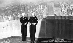 Two Navy servicemen take in the view of @Central Park Conservancy from the #EmpireStateBuilding in 1942. #TBT