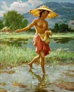Fernando Amorsolo 1892-1972   Filipino Genre and Historical painter