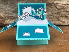 Bon Voyage Cards, Kids Cards, Cards Diy, Handmade Cards, Planes Birthday, Homemade Greeting Cards, Pop Up Box Cards, Card Drawing, Happy Birthday Cards
