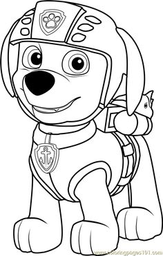 Zuma Coloring Page For Kids And Adults From Cartoon Series Pages PAW Patrol