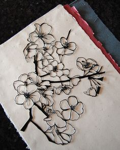 Cherry Blossom Papercut. $100.00, via Etsy.