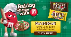 HOT $2.50 M&M's Coupon = Perfect For Baking !! #BakingIdeas #Shop #Cbias
