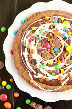 Candy Cookie Cake food cake recipe food ideas recipes cake recipes food images food porn food pictures food recipes cookie cake food diy recipes food diy images