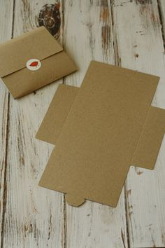 RIBBED Brown eco friendly diy NO Glue CD sleeve envelopes