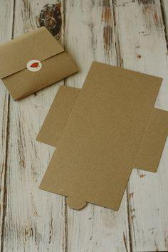RIBBED Brown eco friendly diy NO Glue CD sleeve envelopes