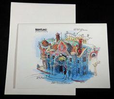 1991 DISNEYLAND TOONTOWN ROGER RABBIT'S CAR TOON SPIN,  Frameable Art Card/Env., found at http://stores.ebay.com/Disneyland-Treasures