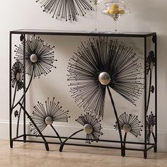Dandelion Console - Black & Nickel #interiorhomescapes #globalviews #console #table #black #home #decor #desgin #furniture