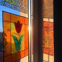 "Andreea Opris on Instagram: ""#windows #catsandwindows #windowpainting #windowpaint #stainedglasswindows #stainedglasswindow #stainedglass #stainedglasspainting…"" Stained Glass Windows, Cats, Painting, Instagram, Gatos, Stained Glass Panels, Painting Art, Stained Glass, Paintings"