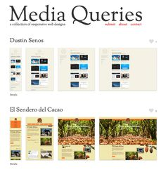 Collection of responsive web designs.