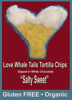 Salty Sweet Goodness.. white chocolate dipped Whale Tails Chips #organic #natural @whaletailschips http://www.whaletailschips.com/