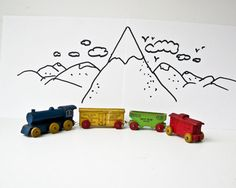 Vintage Strom Becker Lines Wood Toy Train - Chicago Northwestern Line - Michigan Central - Pennsylvania on Etsy, $38.00