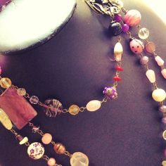 Beads long necklace
