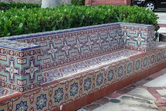 tiled bench - Google Search