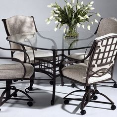 Have to have it. Chintaly Anita 5 pc. Square Glass Dining Table Set $1099.99