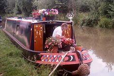 Decorated English narrowboat. www.canalrivertrust.org.uk