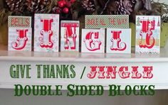 Jingle/Fall Double Sided Blocks - Poppy Seed Projects