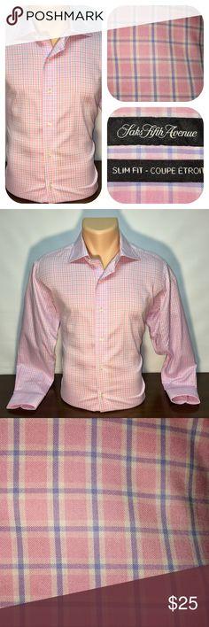 Saks Fifth Avenue Slim Fit - 15.5/32-33 Saks Fifth Avenue Slim Fit - 15.5/32-33 Saks Fifth Avenue Shirts Dress Shirts