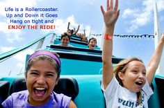 Life is a Roller Coaster. We can help you learn how to more fully enjoy the ups and better handle the downs of life.  http://positiveiq.com/?page=daily_feed&feed_id=27 #rollercoaster #upsanddowns #positiveiq