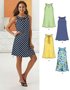Purchase the New Look 6263 Misses' A- Line Dress sewing pattern and read its. - Best Sewing Tips Dress Sewing Patterns, Sewing Patterns Free, Free Sewing, Clothing Patterns, Sewing Tips, Sewing Hacks, Sewing Tutorials, Summer Dress Patterns, Pattern Dress