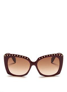Stud brow bar acetate sunglasses d394c2a5269