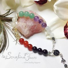 Being successful in our business ventures and our jobs is not only important for our self esteem, but even more so for our lives and the lives of our families. Therefore, I have been inspired to create this Chakra Bracelet to help us be successful in our professional lives.