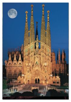 Top 15 Most Beautiful Buildings Around The World,Sagrada Família, Barcelona