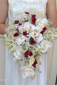 Romance is in the Air Bridal Bouquet by FloralsAndSpice on Etsy