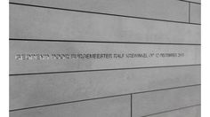 Inscription milled out in facade panel. arch: Kuin & Kuin. EQUITONE facade materials. equitone.com