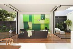 Diseños de interiores en color verde