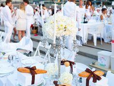 Gorgeous table dressing  Diner en Blanc - Vancouver 2012