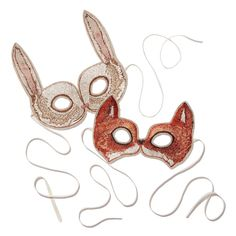 Gift ideas for kids: A cute fox and bunny mask
