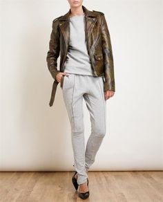 PYER MOSS | Jabber Leather Trimmed Sweatpants | Browns fashion & designer clothes & clothing
