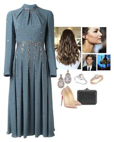 """""""Attending a Student Film Festival"""" by crownprincess-eponine on Polyvore featuring Valentino, Allurez, Christian Louboutin, royalstyle and crownprincess"""