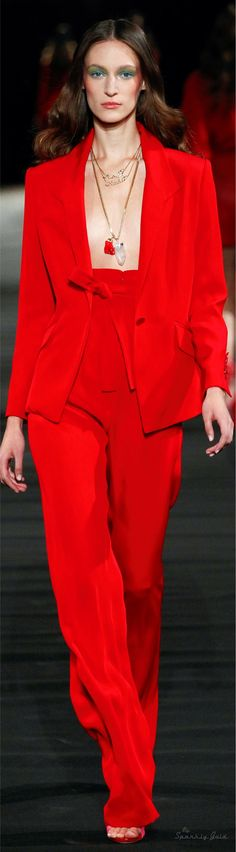 Alexis Mabille Spring 2016 RTW  |  @  red is the color