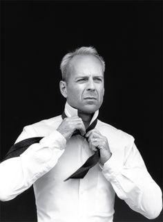 Bruce Willis for Donna Karan, 1996 by Peter Lindberg.